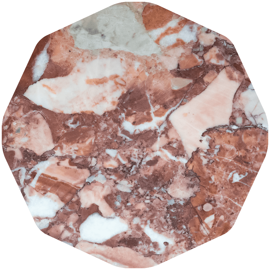 red Sassalbo marble